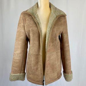 Braeton Faux Shearling Sherpa Faux Suede Jacket